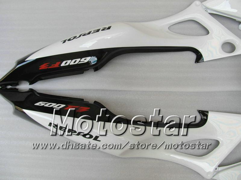 Kit de carenagem para HONDA CBR600 F3 97 98 CBR 600 F3 1997 1998 CBR 600F3 97 98 branco preto Carcaça personalizada Repsol