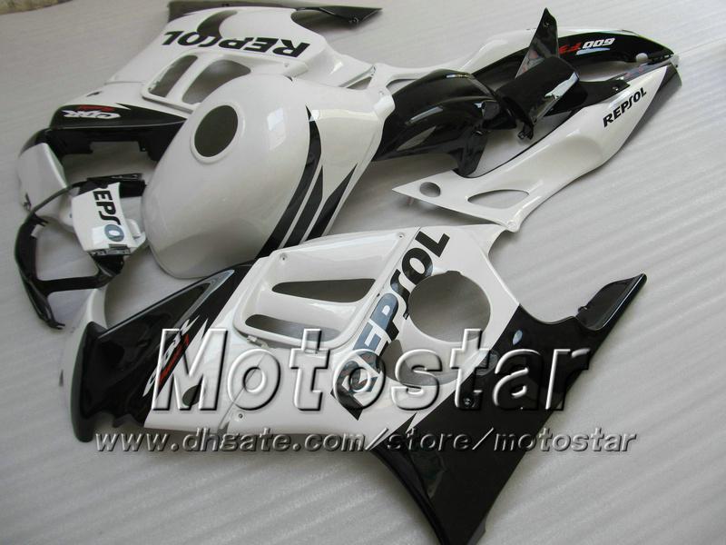 Kuiken Bodykit voor Honda CBR600 F3 97 98 CBR 600 F3 1997 1998 CBR 600F3 97 98 White Black Repsol Custom Backings Set