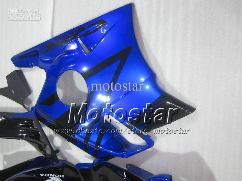 Motocycle fairings for HONDA CBR600 F2 91 94 CBR600F2 1991 1992 1993 1994 CBR 600 glossy blue in black custom fairings set UU10