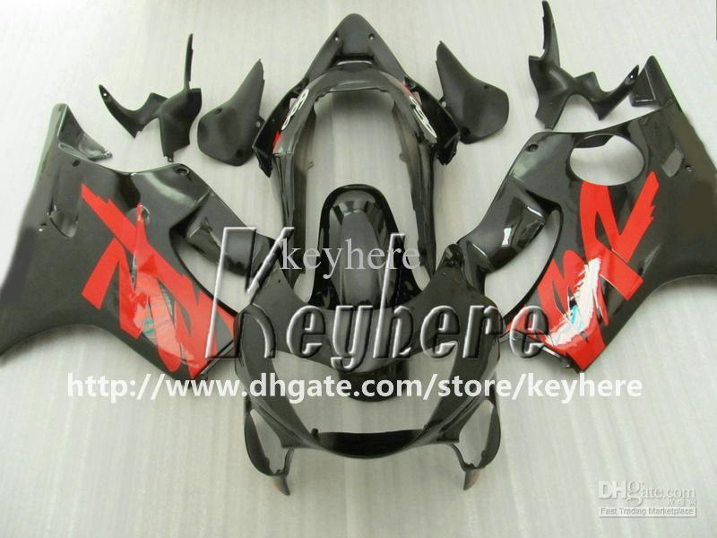 Kit de carénage en plastique ABS gratuit 7 pour Honda CBR600F4 99 00 CBR600 1999 carénage de CBR 600 F4 G9k pièces de moto noir rouge vente chaude
