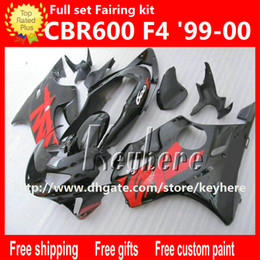 Wholesale Honda Parts For Sale - Free 7 gifts ABS Plastic fairing kit for Honda CBR600F4 99 00 CBR600 1999 2000 CBR 600 F4 fairings G9k hot sale red black motorcycle parts