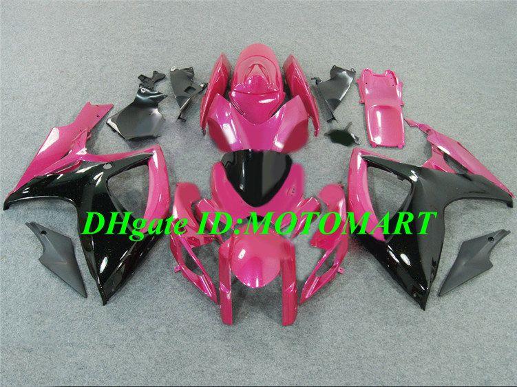 7 cadeaux !! Pour 2006 2007 SUZUKI GSXR600 750 Carénage GSXR 600 GSXR 750 K6 06 07 kit carénage rose noir SP20