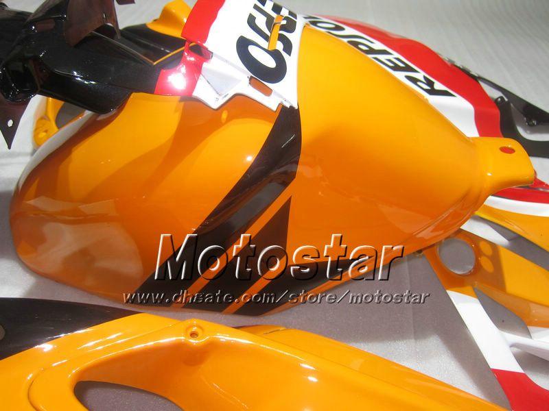 Carenagens de motociclos para HONDA CBR600 F2 91 92 93 94 CBR600F2 1991 1992 1993 1994 CBR 600 laranja preto Repsol carenagens personalizadas