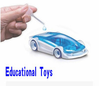 Wholesale Salt Water Power Cars - New Green Energy Toys Salt Water power toy car Fuel Cell Car DIY Kits Toy Free Shipping