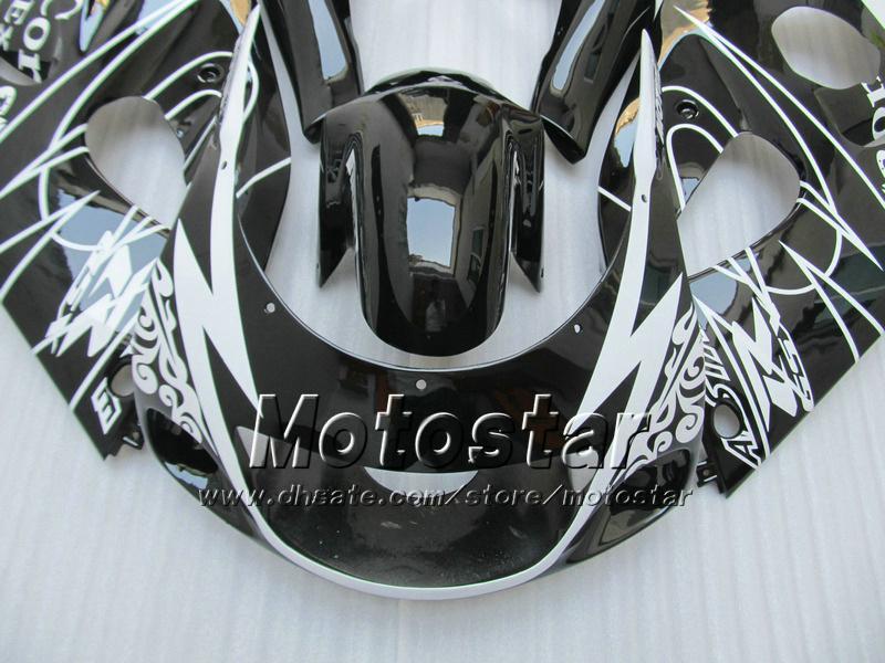 Carénages de moto Corona noirs brillants personnalisés UU39 POUR 1996 1997 1998 1999 2000 suzuki GSXR600 GSXR750 GSXR 600 750 96-00 pièces de rechange