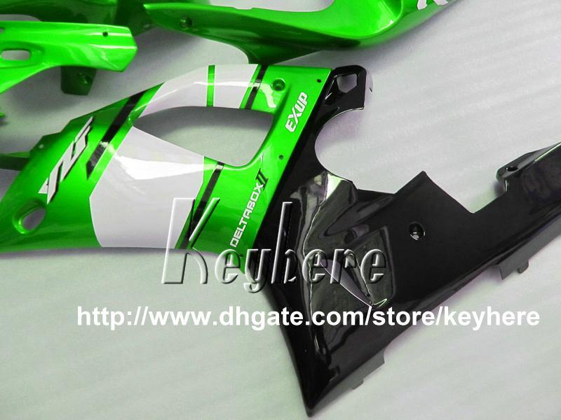 7 regalos gratis Kit de carenado de carrera personalizada para YAMA YZF R1 2000 2001 YZFR1 00 01 YZF1000R carenados G1r nueva venta caliente verde negro moto prats