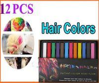 Wholesale Hair Chalk Dye Soft Pastels - 2013 Women's Fashion Non-toxic Temporary Color Hair Chalk Dye Paste Chalk Bug Rub Soft Fencai Bar 12 Pieces set