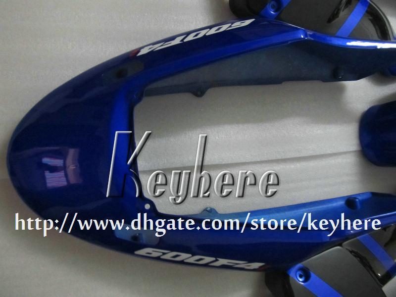 Free 7 gifts Kit de carenagem personalizado para Honda CBR600 2004 2005 2006 2007 CBR600F4I 04 05 06 07 carenagens G3k nova carroceria de motocicleta preta azul