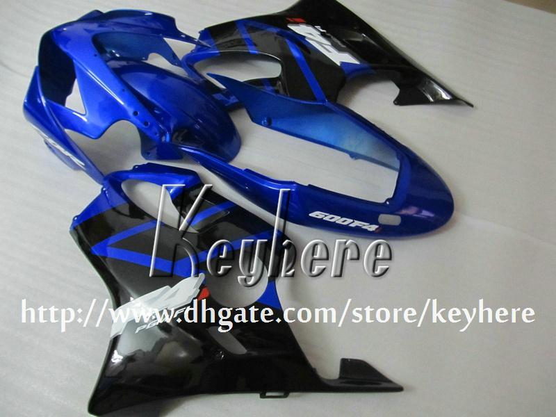 Gratis 7 geschenken Custom Fairing Kit voor HONDA CBR600 2004 2005 2006 2007 CBR600F4I 04 05 06 07 BIJGELIJKHEID G3K Nieuwe Zwarte Blauwe Motorfiets Carrosserie