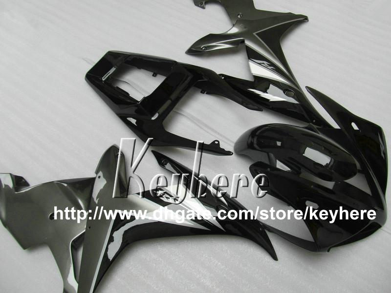 Livre 7 presentes ABS kit de carenagem de plástico para YAMAHA YZFR1 2002 2003 YZF R1 02 03 YZF1000R carenagens G2q alto grau cinza peças da motocicleta preto