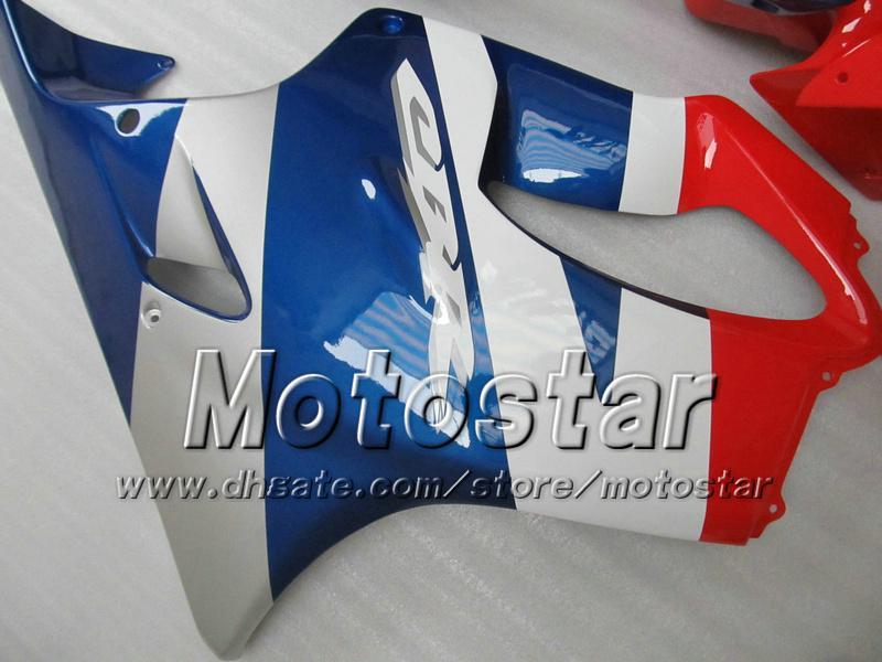 Carene a buon mercato HONDA CBR600F4i 01 02 03 CBR600 F4i CBR 600 F4i 2001 2002 2003 kit carene moto iniezione rosso blu lucido