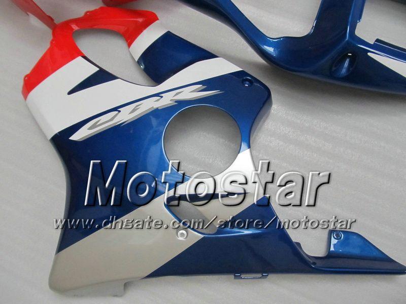 Cheap fairings for HONDA CBR600F4i 01 02 03 CBR600 F4i CBR 600 F4i 2001 2002 2003 glossy red blue injection motorcycle fairing kits