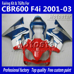 Cheap fairing kits for motorCyCles online shopping - Cheap fairings for HONDA CBR600F4i CBR600 F4i CBR F4i glossy red blue injection motorcycle fairing kits