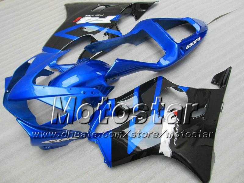 7Carene del cambio HONDA CBR600F4i 01 02 03 CBR600 F4i CBR 600 F4i 2001 2002 2003 kit carene iniezione moto nero blu lucido