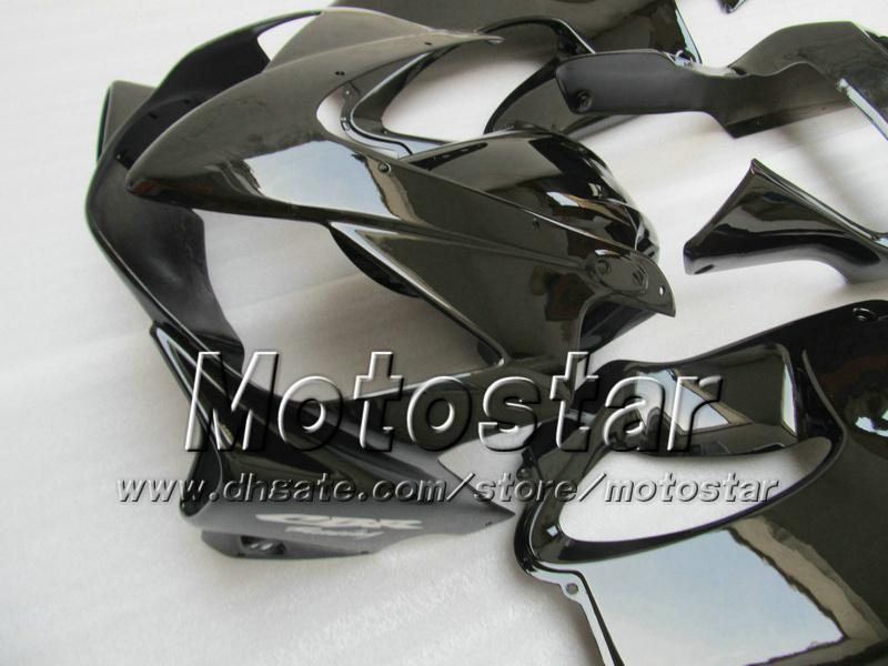 Gratis Personaliseer Backings Kit voor Honda CBR600F4I 01 02 03 CBR600 F4I CBR 600 F4I 2001 2002 2003 Alle glanzende zwarte body fasten