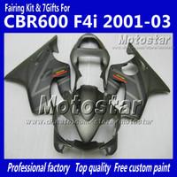repuestos de moto para honda al por mayor-Personalice el kit de carenados de HONDA CBR600F4i 01 02 03 CBR600 F4i CBR 600 F4i 2001 2002 2003 piezas de carenado de motocicleta gris plano