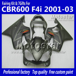 Chinese  Customize fairings kit for HONDA CBR600F4i 01 02 03 CBR600 F4i CBR 600 F4i 2001 2002 2003 flat gray motorcycle fairing parts manufacturers