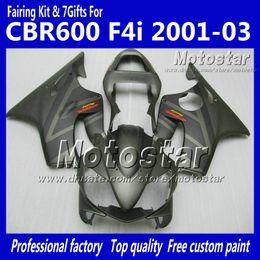 Personalizza il kit carene per HONDA CBR600F4i 01 02 03 CBR600 F4i CBR 600 F4i 2001 2002 2003 parti carene per moto grigio piatto cheap honda cbr motorcycle parts da parti del motociclo honda cbr fornitori