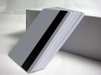 beyaz boş kart toptan satış-100 adet Boş CR80 Hico manyetik şerit Plastik Kartları ISO standart boyutu yazdırılabilir beyaz pvc kart