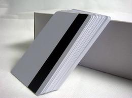 Canada 100pcs Blank CR80 Hico bande magnétique Cartes en plastique ISO standard taille imprimable carte pvc blanche Offre