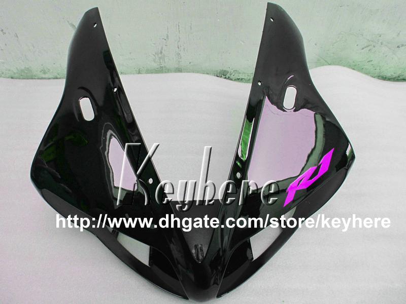 Gratis 7 geschenken ABS Plastic Fairing Kit voor Yamaha YZFR1 2002 2003 YZF R1 02 03 YZF1000R BIFTINGS G7T Hoogwaardige Paars Zwarte Motorfiets Onderdelen