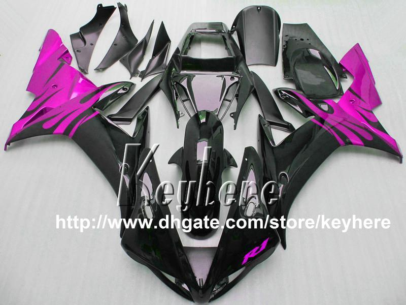 7 regali carenatura in plastica ABS YAMAHA YZFR1 2002 2003 YZF R1 02 03 YZF1000R carene G7t parti di ricambio moto nero viola di alta qualità