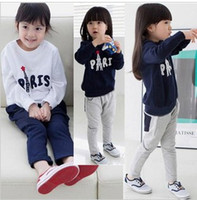 Wholesale Knitting Set For Girls - 2013 New Autunm Knitting Fleece Long-sleeves for Girl,2 colors can choose,5 sets lot,Freeshipping