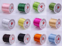 Wholesale Strong Strings - 10 Rollsx10M Mixed 0.8MM Strong Crystal Beading Stretch Elastic Cord Wire String DIY Jewelry Craft Bracelet Making O122