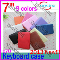 Wholesale Kindle Fire Usb - 70pcs 10 colours 7 Inch USB leather case keyboard WM 8650 A10 A13 Q88 N77 VC882 tablet pc RW-L11-01