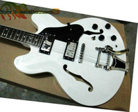 Wholesale Electric Guitar Semi Hollow White - Custom Shop White 335 Jazz Electric Guitar 1960 Classic 335 Semi Hollow withBigbys Guitars High Free Shipping
