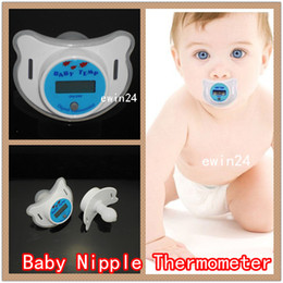Wholesale Pacifier Baby Free Shipping - Electronic Infant Baby Digital Dummy Pacifier Thermometer Soother Nipple Safe Mother's Good Helper New Free Shipping
