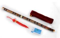 китайская флейта дизи традиционная оптовых-Классические ключи бамбук флейта Дизи комплект китайский флейта бесплатные подарки китайский узел, флейта диафрагмы