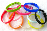 Wholesale 8mm Silicone - 8mm candy color DIY Silicone Bracelet wristband fit 8mm slide letters and charms