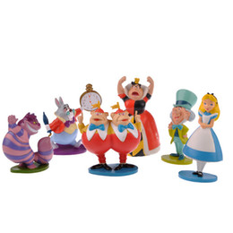 Wholesale Alice Wonderland Toy Set - Set of Alice in Wonderland Figure   Toys   Cake Topper   12Pcs   Popular Alice