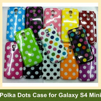 Wholesale Galaxy S4 Polka Dots - Wholesale New Arrive Polka Dots Case for Galaxy S4 Mini i9190 Soft TPU Cover Case for Samsung Galaxy S4 Mini i9190 10pcs lot Free Ship