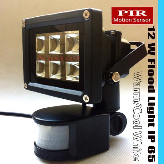 Luz de inundação do sensor de movimento infravermelho do PIR do diodo emissor de luz de 12W ou luz humana do sensor com poder brilhante e alto alto para sua casa interior