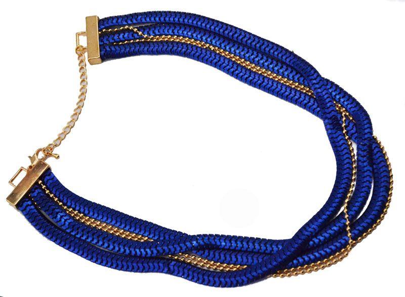 Multi Brins Perles Chunky serpent large fermeture éclair Collier plat Déclaration Curb Link