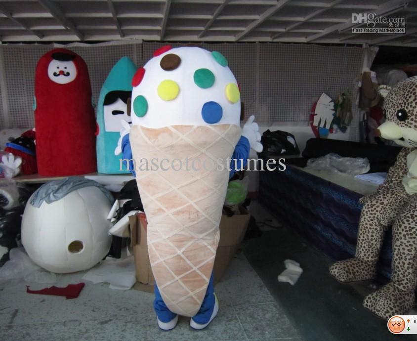freie Tropfenverschiffenplüscheiscremekarikatur-Maskottchenkostüme für erwachsenes Abendkleid nach Maß gute Qualität