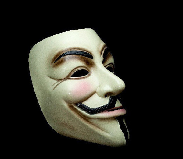 Free shipping for CPAM V vendetta team guy fawkes masquerade Halloween carnival Mask 40g,light yellow 45 pieces/lot