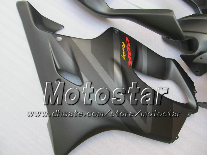 Gratis Personaliseer Verklei Carrosserie voor HONDA CBR600F4I 01 02 03 CBR600 F4I CBR 600 F4I 2001 2002 2003 Plat Gray Fairing VV6