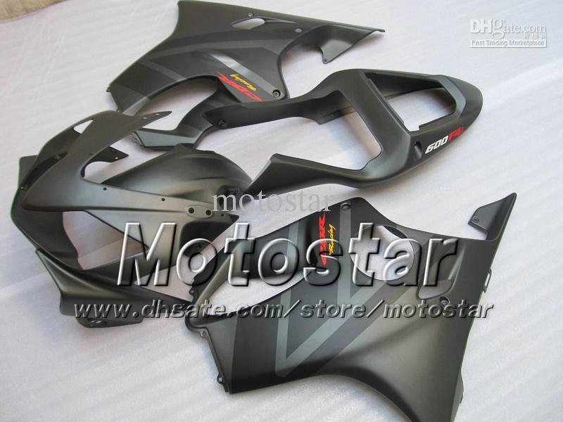 Personalizar carenados personalizados gratis para HONDA CBR600F4i 01 02 03 CBR600 F4i CBR 600 F4i 2001 2002 2003 carenado gris plano VV6