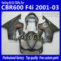 Wholesale Gray F4i Fairings - 7 Gifts fairings bodywork for HONDA CBR600F4i 01 02 03 CBR600 F4i CBR 600 F4i 2001 2002 2003 flat gray fairing VV6