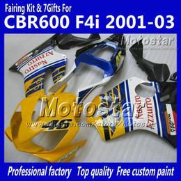 F4i giFt online shopping - 7 Gifts fairings bodywork for HONDA CBR600F4i CBR600 F4i CBR F4i glossy yellow blue fairing