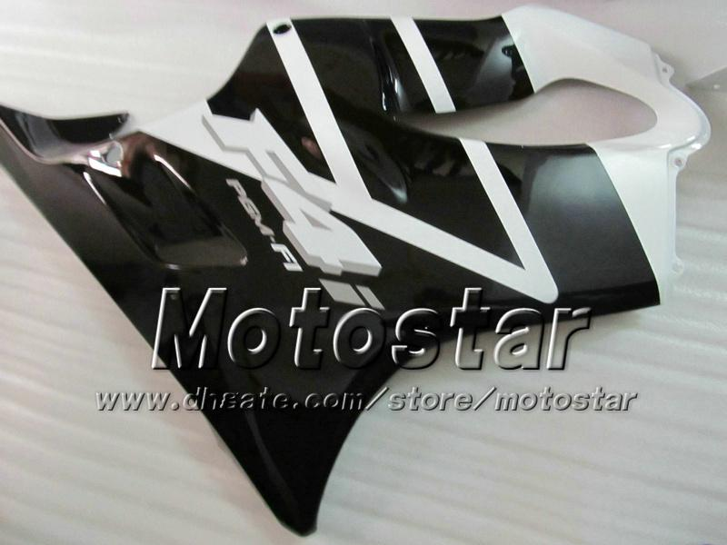 7 Geschenken Backings Carrosserie voor Honda CBR600F4I 01 02 03 CBR600 F4I CBR 600 F4I 2001 2002 2003 Glanzende witte zwarte kuiken VV26