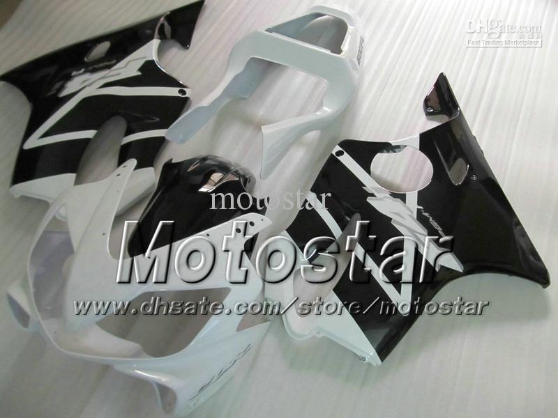 7 선물 FAIRINGS HONDA CBR600F4I 01 02 03 CBR600 F4I CBR 600 F4I 2001 2002 2003 광택 화이트 블랙 페어링 VV26