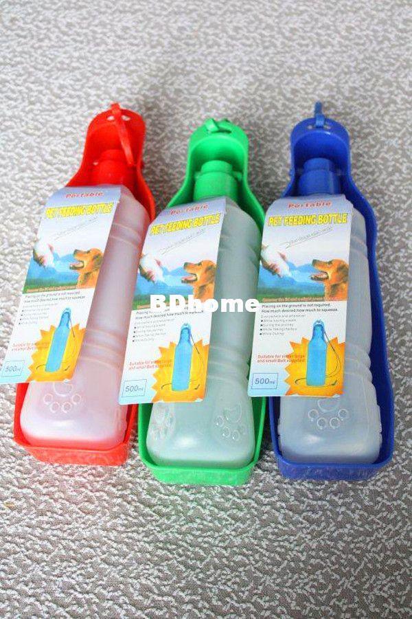 Nieuwe hondenkom hondenwater voor huisdieren 500ml water drinken draagbare drinkflessen kommen voor hond kat