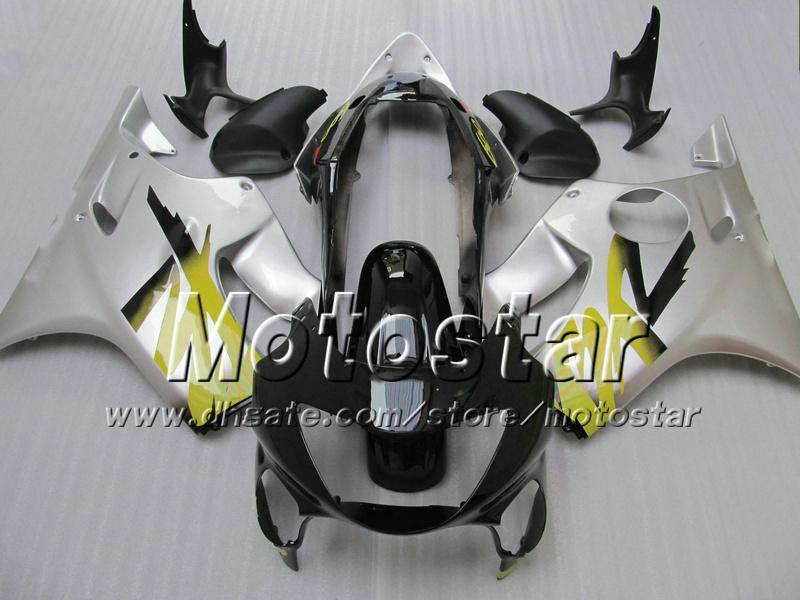 7 HONDA CBR600F4i를위한 선물용 정면 차체 01 02 03 CBR600 F4i CBR 600 F4i 2001 2002 2003 실버 블랙 페어링 VV47