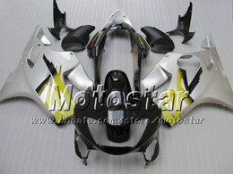 F4i giFt online shopping - 7 Gifts fairings bodywork for HONDA CBR600F4i CBR600 F4i CBR F4i silver black fairing VV47