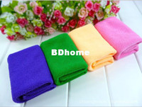 Vente en gros 10pcs / lot Microfiber Water Ultra-Absorptive Bath Dry Towel pour Dog Pet 2 tailles pour choisir Mix Colors