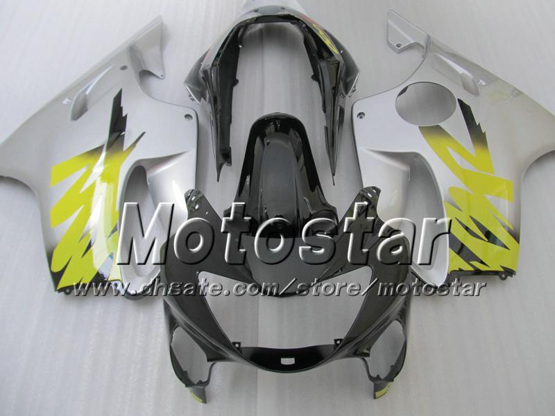7 Gifts fairings bodywork for HONDA CBR 600 CBR600 F4 CBR600F4 99 00 1999 2000 glossy silver black custom aftermarket fairing ag12